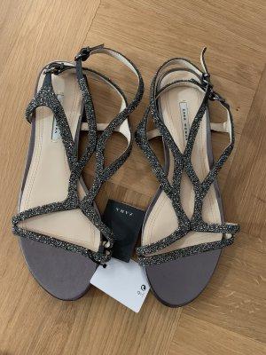 Zara Strapped Sandals silver-colored