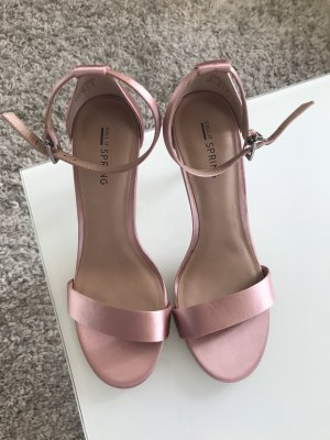 Call it Spring Strapped High-Heeled Sandals dusky pink