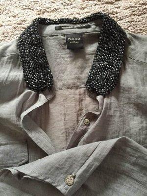 Neu Schickes Hemd mit Perlenkragen