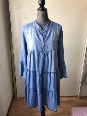 Made in Italy Jeansowa sukienka niebieski-jasnoniebieski
