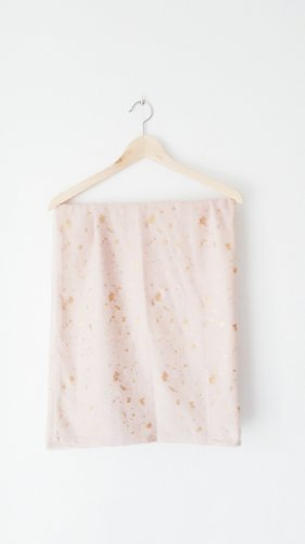 Six Tube Scarf gold-colored-pink