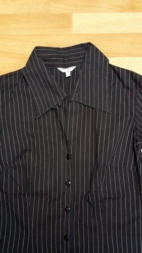 NEU schöne Bluse Hemd langarmig in schwarz-weiß gestreift Gr. XS