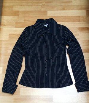 NEU schöne Bluse/Hemd/ langarmig/ schwarz-weiß gestreift/ Gr. XS
