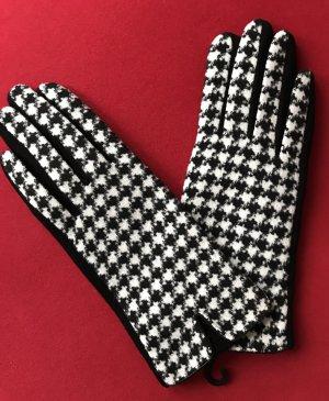 / Gant à doigts noir-blanc