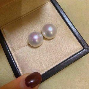 Neu schöne Perlenohrringe aus echten Süßwasserperlen