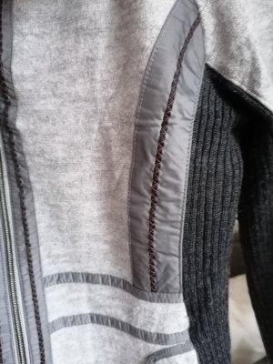 Neu schöne Taifun Jacke  leichte Wolle Strickjacke Sport Blazer Schwarz Grau Übergang gr S M