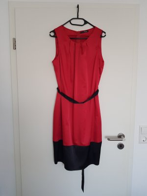 NEU schönes Kleid Satin in rot schwarz Gr. 44 von my own