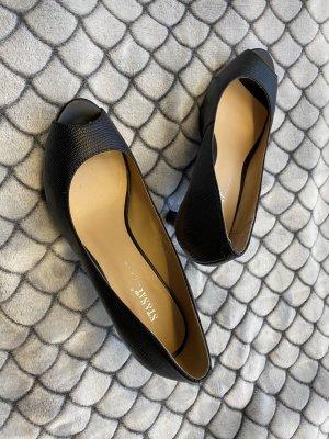ST. Zapatos formales sin cordones negro Cuero