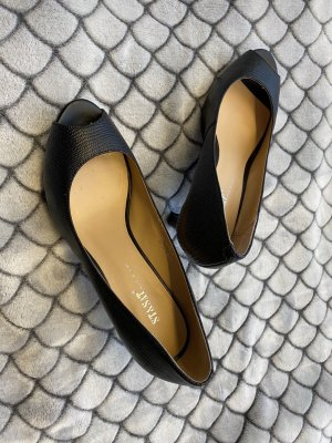 ST. Pantoffels zwart Leer
