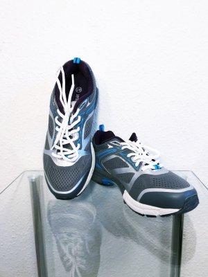 Neu Schuhe Sneaker Sportschuhe Laufschuhe Turnschuhe Fitness Walkx Sport Größe 38 Damen grau Silber blau