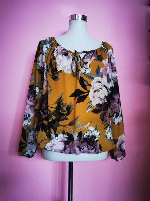 *NEU* Schulterfreie Luftige Bluse mit Blumen (K3)