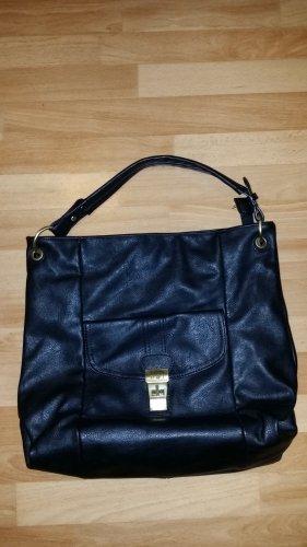 NEU schwarze Handtasche in Leder optik