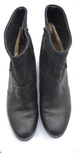 Neu! Schwarze WOLKY Plateau Leder-Stiefeletten ,Gr. 42  (fällt kleiner aus, eher 41)