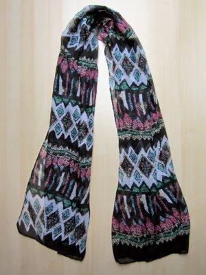 NEU: Schwarzer Schal mit freundlichem Muster