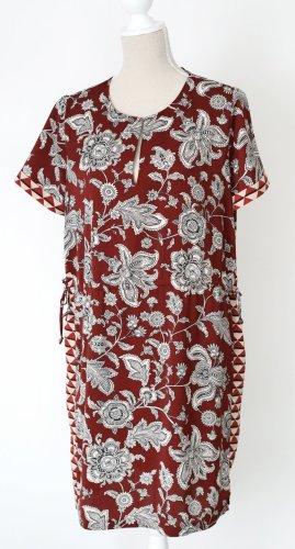 * NEU * Scotch & Soda Damen Kleid Tunika L 40 braun floral grafisches Muster Maison