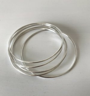 NEU Set 5x Armband Silber Armreif Bangle Bracelet Boho Stacking Layering Schmuck