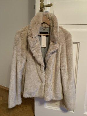 NEU SET Felljacke Fake Fur beige 36