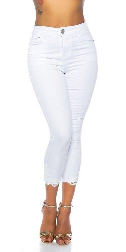 Miss RJ Jeans a 7/8 bianco