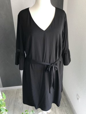 Sheego Sukienka z falbanami czarny
