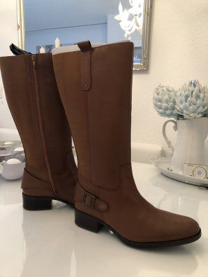 Sheego Wide Calf Boots cognac-coloured