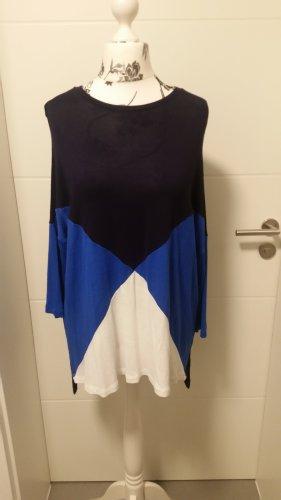 Neu! Shirt Stradivarius Gr. L Blau Weiß
