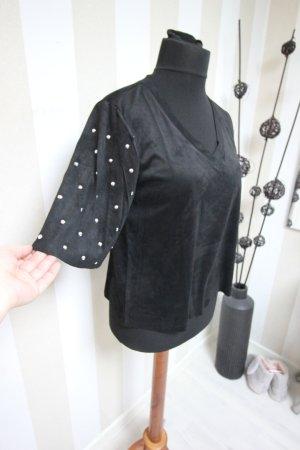 Camicia a tunica argento-nero