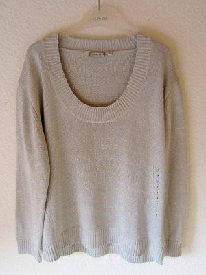 Chicc Kraagloze sweater zilver-lichtgrijs Acryl