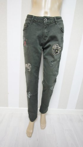 Pantalone a sigaretta grigio-verde