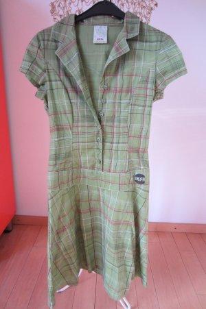 Skunkfunk Robe chemisier vert prairie-vert clair coton