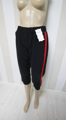 3/4 Length Trousers black-red