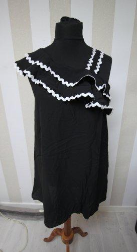 Vestido tipo túnica blanco-negro