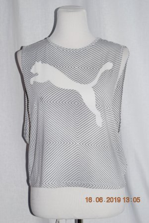 Alexander McQueen / Puma Backless Top white-light grey mixture fibre