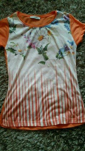 Neu! Sommer Shirt von Zauberstern in Orange/Weiß Gr. S