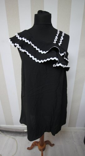 Sukienka tunika czarny-biały