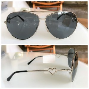Moschino Pilotenbril zilver-antraciet Metaal