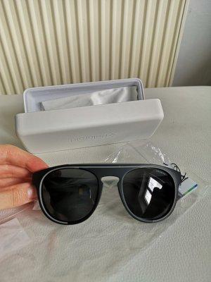 Polaroid Lunettes de soleil ovales gris foncé-gris anthracite