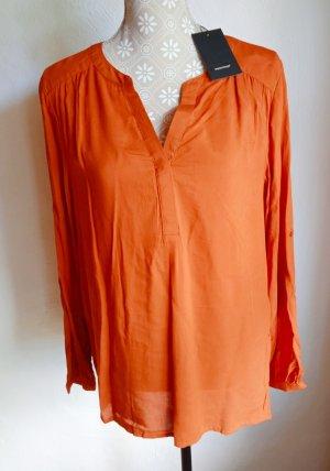 Soyaconcept Blusa a tunica arancione scuro-ruggine Viscosa