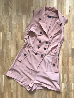 NEU Sparkle and Fade Jumpsuit XS 34 Overall Hose Shorts Playsuit Pants Rose Nude
