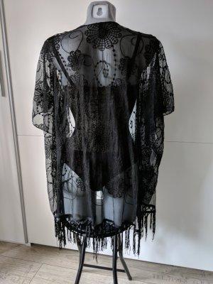 neu spitzenjacke schwarz Kimono Style Strickjacke blind Date one size S M
