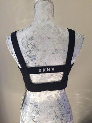 DKNY Débardeur de sport noir-blanc polyamide
