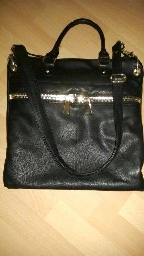 Steffen Schraut Carry Bag black-dark yellow leather