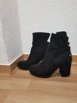 keine Marke Wysokie buty na obcasie czarny
