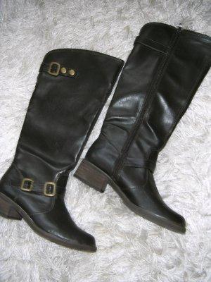 Botas de equitación marrón oscuro-marrón