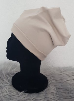 Czapka z tkaniny beżowy