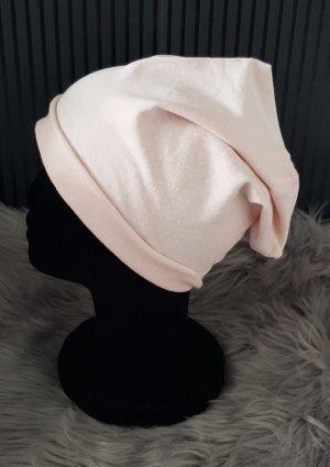 Chapeau en tissu rosé