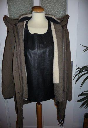Storm & Marie Down Coat khaki mixture fibre
