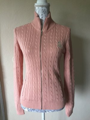 Lauren by Ralph Lauren Pull torsadé rose clair