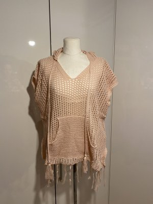 NEU Strick-Shirt Gr.44 Gr.XL Oberteil Netzshirt rosa