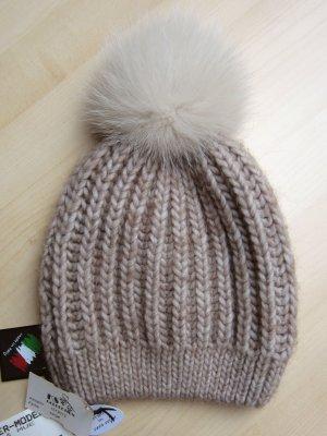 Wollen hoed beige-licht beige Alpacawol