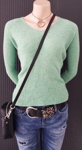 V Milano Maglione lavorato a maglia verde chiaro